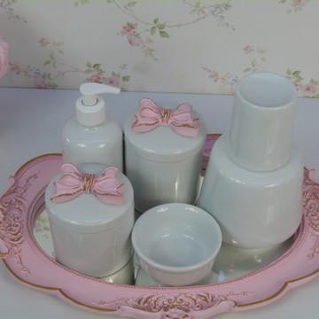 Kit Higiene Laço Rosa
