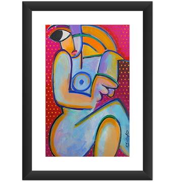 Quadro Mulher Abstrato Moderno Pop Arte