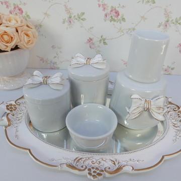 Kit higiene porcelana Laço com Moringa