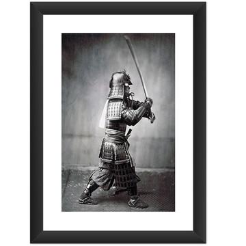 Quadro Samurai Retro Vintage Decoracao