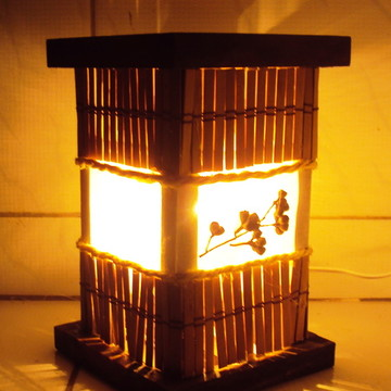 abajur de criado mudo luminária rustico