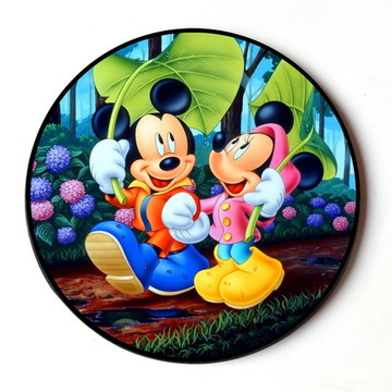 Quadro Redondo Mickey e Minie