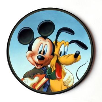 Quadro Redondo Mickey e Pluto