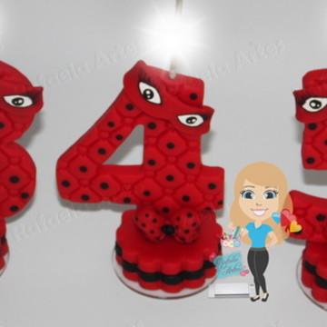 Vela personalizada Ladybug