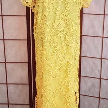 Vestido de renda Guipure