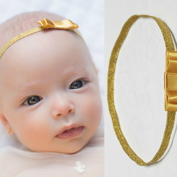 Faixa BABY laço dourado