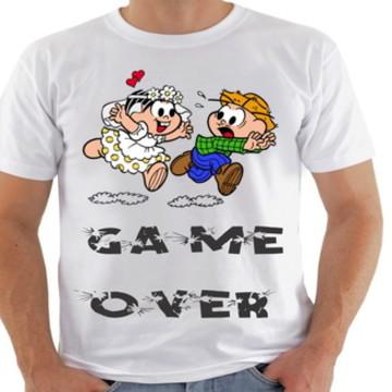 camiseta game over turma da mo