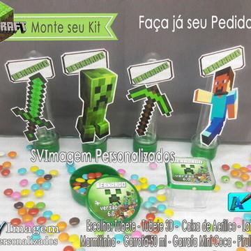 Monte seu Kit festa Minecraft