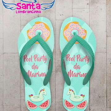 Chinelo Pool Party Infantil