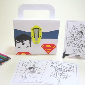 Lembrancinha Superman com Kit Pintura