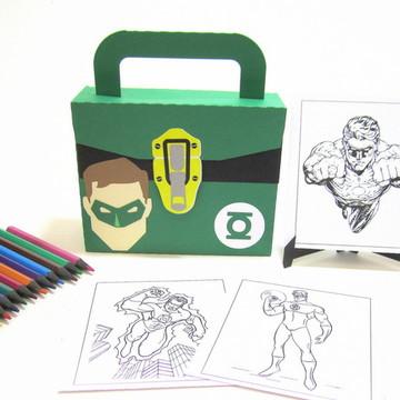 Lembrancinha Lanterna Verde Kit Pintura