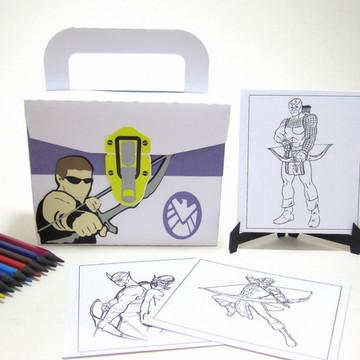Lembrancinha Arqueiro com Kit Pintura