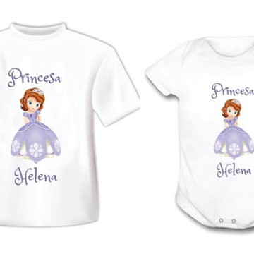 Body ou Camiseta Princesa Sophia