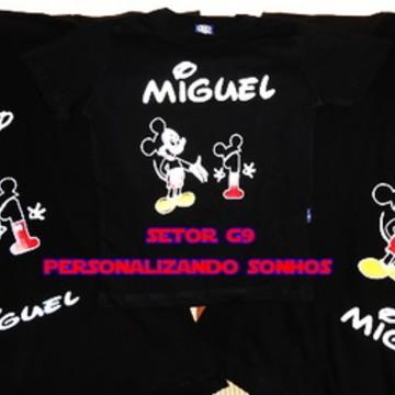 kit camiseta aniversario mickey