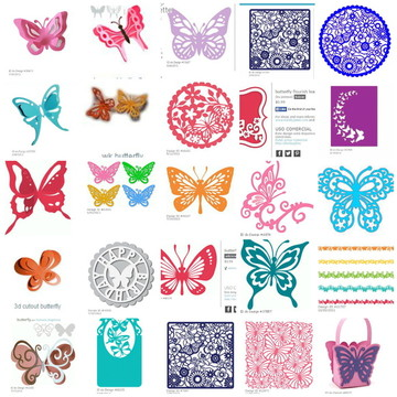 Silhouette Borboletas Butterfly studio