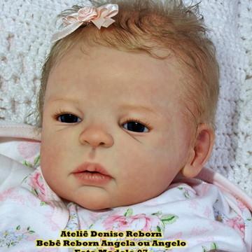 Boneca Bebê Reborn Angela ou Angelo parece bebe de verdade