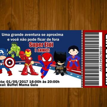 Convite Super Herois babê
