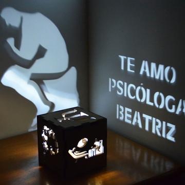 Luminária Psicologia Personalizada namorada criativo
