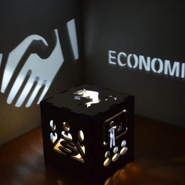 luminária Economia formatura namorada formanda criativo