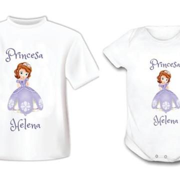 Kit Body e Camiseta Princesa Sophia