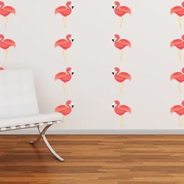 Mini Adesivo Flamingo (Kit)