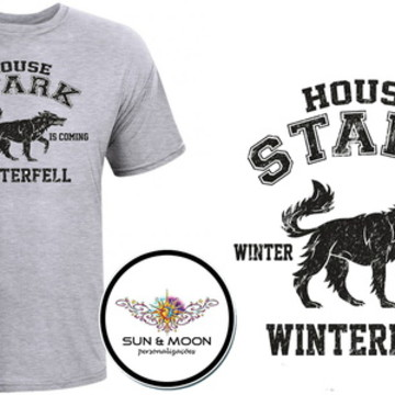 Camiseta cinza house stark GOT