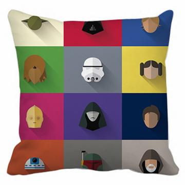 Capa de Almofada Star Wars Personagens