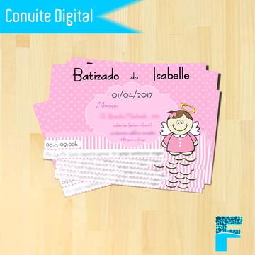 Convite Digital Batizado Menina |