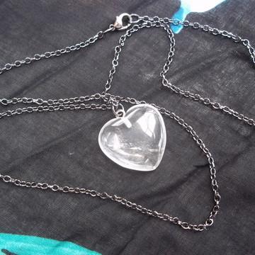 Pingente Coração de Cristal