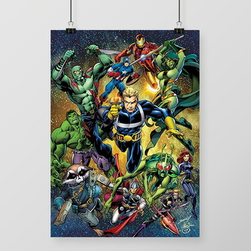 Quadro Marvel All Star