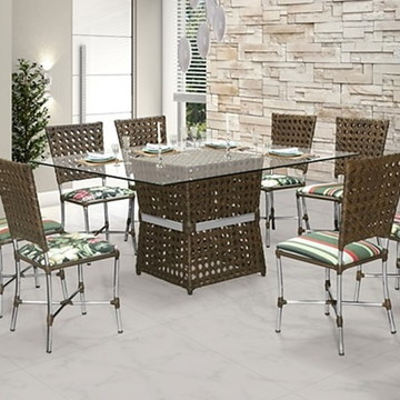 Mesa + 8 Cadeiras Sala de Jantar
