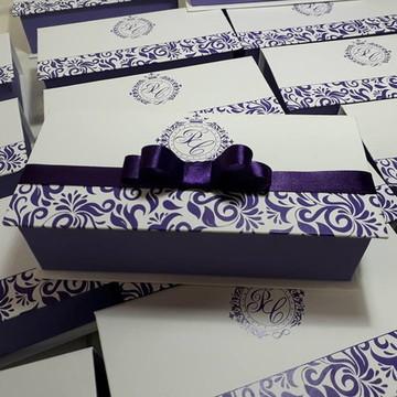 Caixa Box para gravata e corsage 19x9x5
