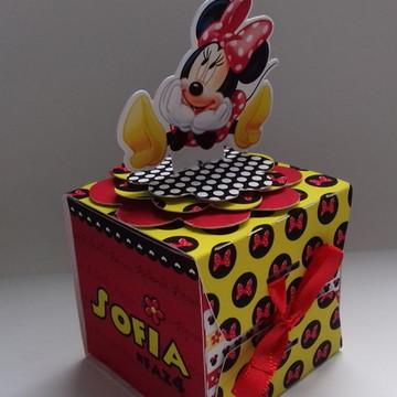 Caixa Envelope Minnie Vermelha