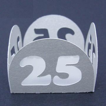 Forminha - Bodas de Prata Metalizado