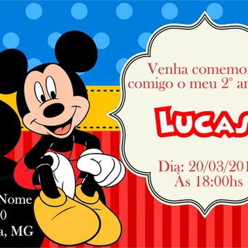 Arte Digital Convite Mickey