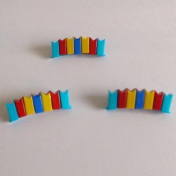 12 botões bandeirinha azul