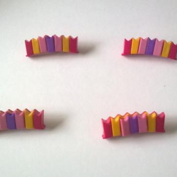 12 botões bandeirinha rosa