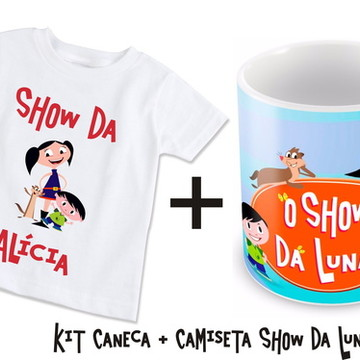 Kit Camiseta + Caneca Show da Luna