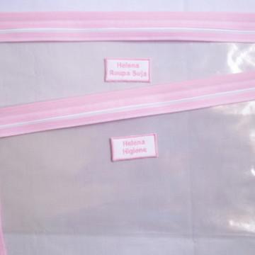 Saco Maternidade Transparente com ziper