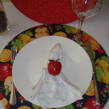 Capa Sousplat dupla face frutas