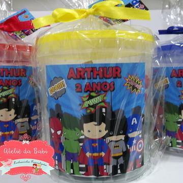 lembrancinha lego super heróis