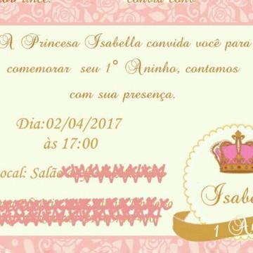 Convite Coroa Menina