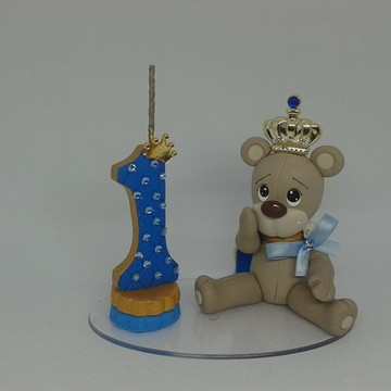topo de bolo urso rei