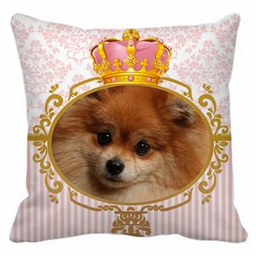Capa de Almofada Lulu da Pomerânia Coroa