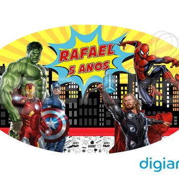Placa para Decoração Heróis Vingadores