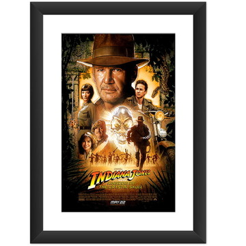 Quadro Filme Indiana Jones Cinema Retro