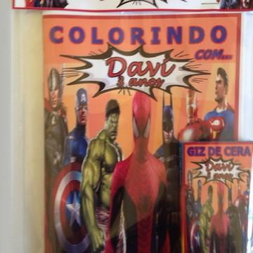 Kit de colorir super herois