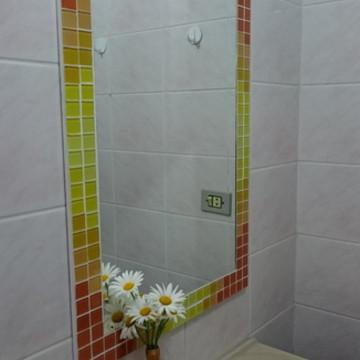 Espelho Degradê Amarelo/Laranja