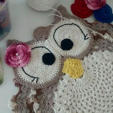 ***Promoção*** Tapete de crochê corujinha feliz