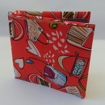 Carteira de origami em tecido estampado
